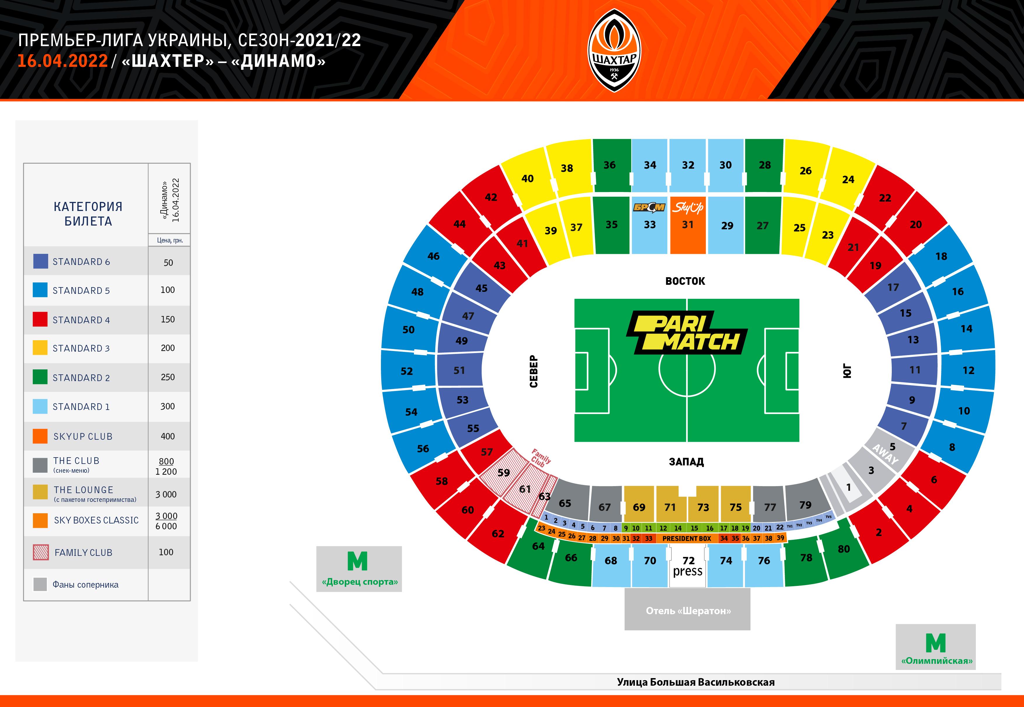 Харьков схема стадиона